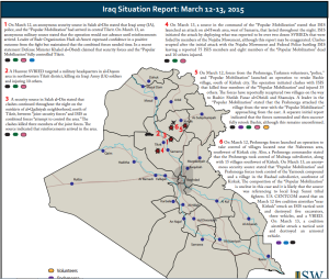 Iraq situation report march 2015